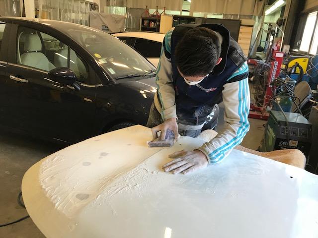 preparation peinture ponçage