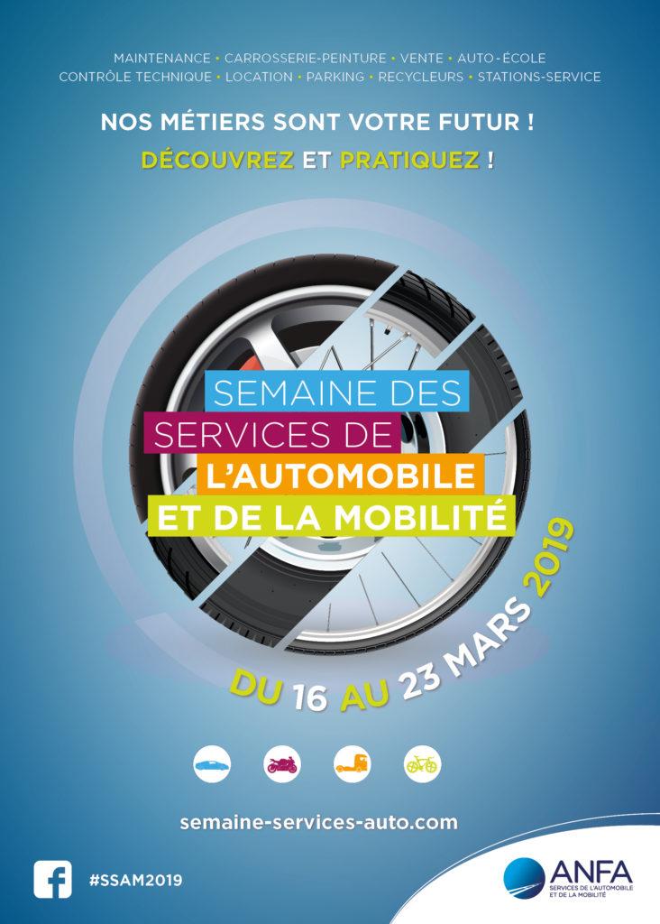 Flyer semaine des services de l'automobile et de la mobilité du 16 au 23 mars 2019.