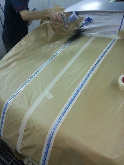 Corvette préparation motif capot arrière