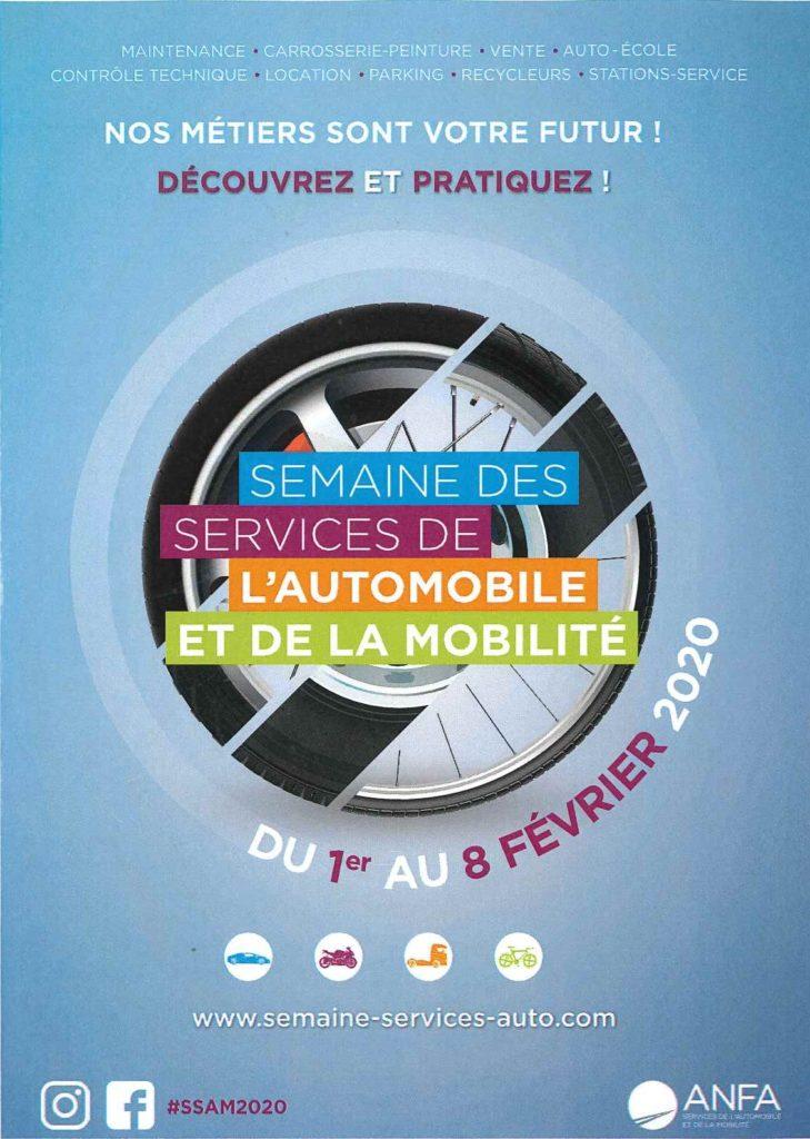 Flyer Semaine des Services de l'Automobile et de la Mobilité 2020