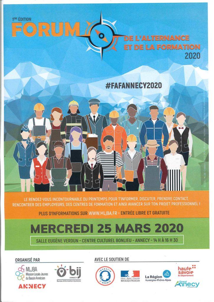Affiche forume de l'alternance et de la formation à Annecy