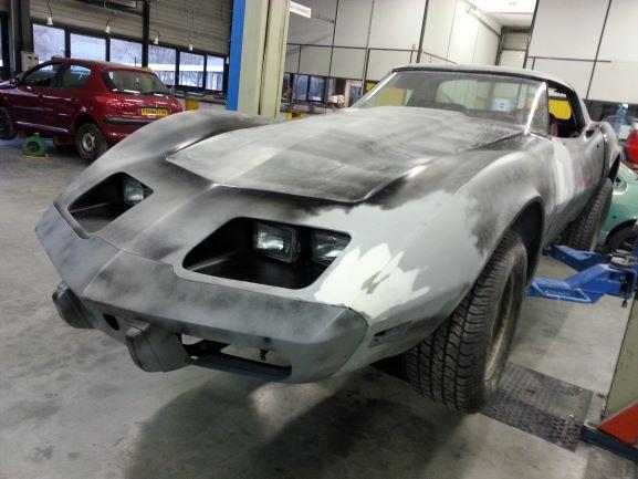 Corvette en apprêt